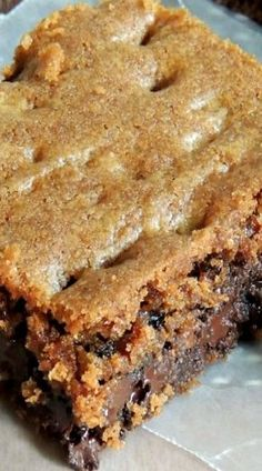 Chocolate Chip & English Toffee Cookie Bars.