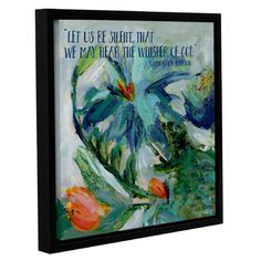 Zipcode Design Let Us Be Silent Framed Painting Print on Wrapped Canvas Size: