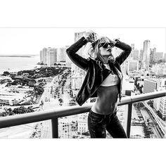 Style Link Miami - Style In The City - Fashion Editorial - Downtown Miami - Black Biker Jacket