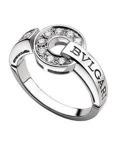 diamond rings bvlgari bulgari inspired 14ct white gold and diamond ring