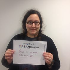 "Julia Bascom's #Unselfie says, ""I work with ASAN Because There is so much left to be done."" Julia is our Deputy Executive Director."