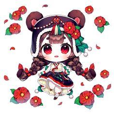 Cute Anime Chibi, Kawaii Chibi, Kawaii Art, Kawaii Anime, Anime Girl Pink, Manga Anime Girl, Chibi Girl Drawings, Cute Drawings, Cool Anime Guys