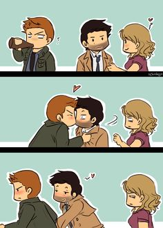 i usually don't pin anything that ships dean to castiel but this one is really cute!