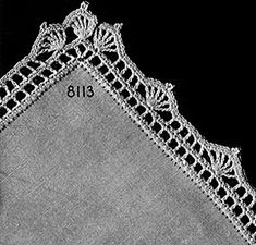 Ravelry: Chequers Edging pattern by The Spool Cotton Company Chequers Edging by Free Vintage Crochet This post was discovered by Susan Sleeper.) your own Posts on Unirazi. Filomena Crochet e Outros Lavo Crochet Borders For Individual Tablecloth Crochet Edging Patterns Free, Crochet Boarders, Crochet Lace Edging, Crochet Chart, Crochet Squares, Filet Crochet, Crochet Trim, Crochet Designs, Crochet Flowers