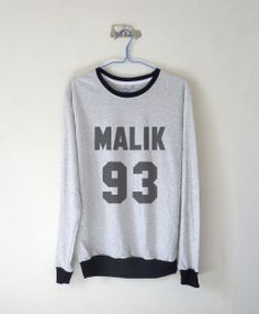 Malik 93 Sweatshirt $15.99 ; Zayn Malik ; One Direction Sweater ; #1D ; Fangirl ; Graphic Tees ; Tumblr  ; Teen Fashion ; Shop more #OneDirection fashion at http://kissmebangbang.com/product-category/one-direction/