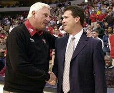 Coach Bob Knight and Coach Steve Alford. My two favorite coaches. One being family :) Indiana Basketball, I Love Basketball, Basketball Legends, College Basketball, Steve Alford, Bob Knight, Iu Hoosiers, Football Memes, Indiana University