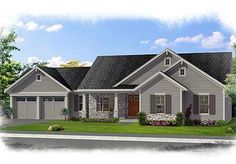 Family-Friendly One Level Home Plan - 39223ST | Ranch, Southern, 1st Floor Master Suite, CAD Available, Den-Office-Library-Study, Media-Game-Home Theater, PDF | Architectural Designs