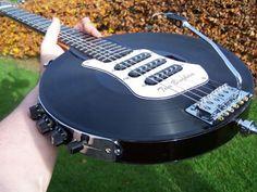 vinyl record guitar