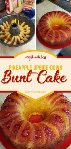 PINEAPPLE UPSIDE-DOWN BUNDT CAKE I love bundt cakes because they are so easy to serve. I found this … It comes out great and it will be the easiest pineapple upside down cake you'll ev… Devils Food, Instant Pudding, Food Cakes, Cupcake Cakes, Pineapple Upside Down Cake, Pineapple Slices, Crushed Pineapple, Pineapple Cake, Bunt Cakes