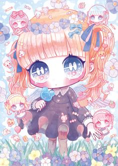 Dibujos Anime Chibi, Cute Anime Chibi, Kawaii Chibi, Kawaii Art, Kawaii Anime Girl, Kawaii Drawings, Colorful Drawings, Cute Drawings, Cute Wallpaper Backgrounds