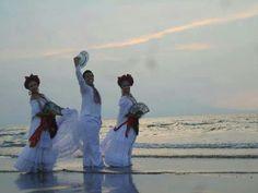 Mexico: Bailarines  de  son jarocho baile tradicional  de Veracruz