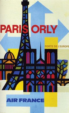 By Jaques Nathan Garamond, c 1 9 6 2,  Paris-Orly for Air France.