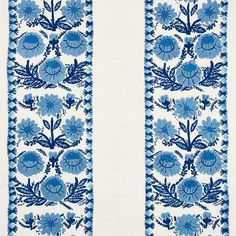Schumacher Marguerite Embroidery Fabric (Set of Color: Sky Ikat Fabric, Fabric Decor, Fabric Design, Pattern Design, Curtain Fabric, Chinoiserie Motifs, Luxury Flooring, Embroidery Fabric, Schumacher