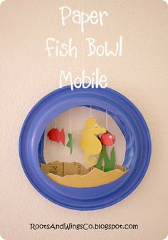 Fish Bowl Mobile. We made these at 4-H camp