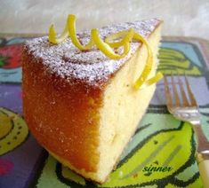 Lemon yoghurt cake ~ made with yogurt and olive oil, so delicious and healthy....