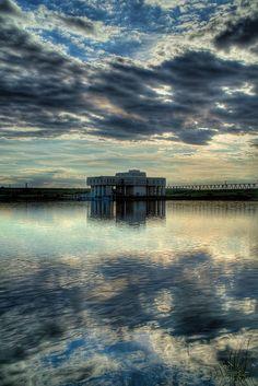 Water gate at Lake Saiko, Saitama, Japan