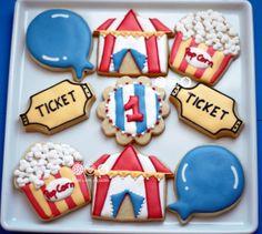 Biscoitos decorados Circo de Menino - Circus decorated Cookies