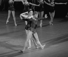 """New York City Ballet production of """"Jewels"""" (Rubies) with Patricia McBride and Mikhail Baryshnikov, choreography by George Balanchine (New York)"""