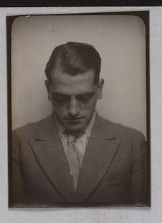 Luis Buñuel in a photobooth