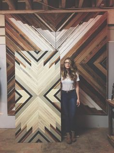 Beautiful Wood Wall Art is a part of our furniture design inspiration series. Furniture Inspiration series is a weekly showcase of incredible designs Wooden Art, Wood Wall Art, Bohemian Style Home, Wood Mosaic, Creation Deco, Wood Patterns, Barn Quilts, Wood Design, Wood Paneling