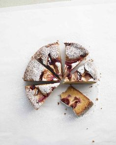 Plum Cake | Martha Stewart Living - This moist, lemony plum cake needs little more than a dusting of confectioners' sugar. If you like, though, a dollop of sour cream is a delicious accompaniment.
