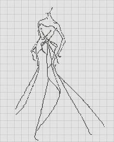 Free Cross Stitch Fashion Sketch chart 1 | Sew Simple Dress