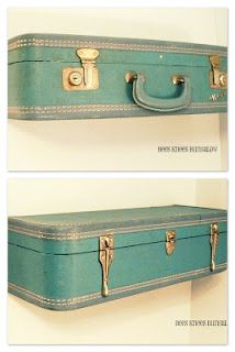 Shelves made from old suitcases?  You are calling my name!  YES!