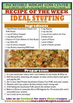 Good morning #IdealProteinPals!  Continuing with our #Thanksgiving recipes, today we give you Stuffing! #Phase1Approved (like all of our recipes). If you are gluten-intolerant or allergic just switch the Southwest Cheese Curl Puffs for White Cheddar Ridges.  *** LIKE, SHARE & COMMENT *** Share with all your friends on the #IdealProtein #diet!