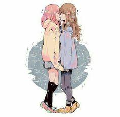 uigan: i fouuuund it - Just My Cup Of Tea Anime Girlxgirl, Kawaii Anime, Anime Art, Manga Yuri, Yuri Anime, Lesbian Art, Lesbian Love, Anime Couples, Cute Couples