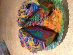 My tie dye cupcakes