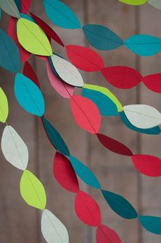 DIY Twisted Paper Garland Tutorial