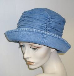 Denim Hat with Gathered Crown Mandy's Hats. $17.95