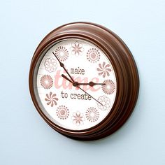 Stamped Clock Face