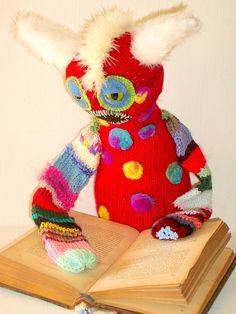 Knitted Art Doll  Monster Doll Smooch by MysticHillsNgaroma
