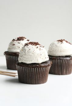 Chocolate Ganache Cupcakes from the Faux Martha via the  @The TomKat Studio