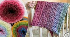 Sticka klappvänlig korgmönstrad filt till babyn – härligt sommarsval! | Land.se Knitting, Accessories, Fashion, Fashion Styles, Creative, Threading, Moda, Tricot, Breien
