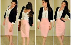 Stretchy Knit Pencil Skirt Tutorial: Super easy and comfy pencil skirt, made this one in 30 minutes! Perfect for you busy women! Supplies: knit or stretchy material (preferably thicker material) sewing machine or needle and thread thr. Pencil Skirt Tutorial, Knit Pencil Skirt, Pencil Skirts, Knit Skirt, Pencil Dress, Look Fashion, Diy Fashion, Ideias Fashion, Skirt Fashion