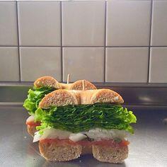 This sandwich is my standard. LOVE it!:)♡♡♡ - 142件のもぐもぐ - After→Homemade bagel sandwich(smoked samon and cream cheese)/サンド後→自家製ベーグルのサンドイッチ(スモークサーモン&クリームチーズ) by michakolotus