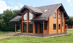 Проект дома из профилированного клееного бруса, свайно ростверковый фундамент, натуральная керамическая черепица, 132 м² проект Фалькон