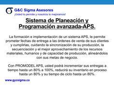 Simulacion Avanzada - APS Move Forward, Products