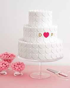 3b33e066b6ce Hello Kitty Bridal Shower · Love the simplicity of this white on white  heart cake