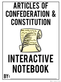 Articles of Confederation | Constitution | Lesson Plans | American History | Social Studies | High School | Middle School | Interactive Notebook | Graphic Organizers | Unit | Activities | Lessons | Projects | Teaching | Weaknesses | Strengths | Bill of Rights | Constitutional Convention | Virginia Plan | New Jersey Plan | Branches of Government