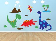 Dinosaur theme wall decals for next nursery! If a boy :)
