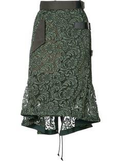 Sacai Hi-low Key Lace Skirt Fall Outfits, Fashion Outfits, Womens Fashion, Animal Print Maxi Dresses, Foto Fashion, Fall Skirts, Culottes, Straight Skirt, Printed Skirts