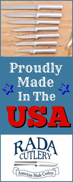 Proudly Made in the USA high quality, economically priced kitchen knives and utensils. Made in Iowa since 1948 from 100% US made components, new and recycled.
