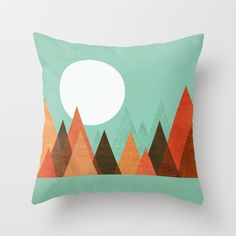 From the edge of the mountains Throw Pillow by Budi Satria Kwan - $20.00