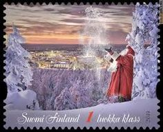 Risultati immagini per santa claus francobollo
