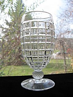 Heisey Victorian Footed 12 oz. Soda Tumblers - Pair. Click on the image for more information.