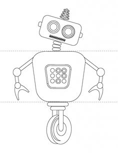 Flip a Robot Printable Activity Book  	6 full color mix-and-match robots, 6 black-and-white mix-and-match robots, 3 blank templates for creating your own robots  	Instant digital downloads product in PDF format