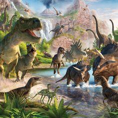 Wall Mural: Dinosaurs: 10.0' x 8.0' wallpaper for £38.99
